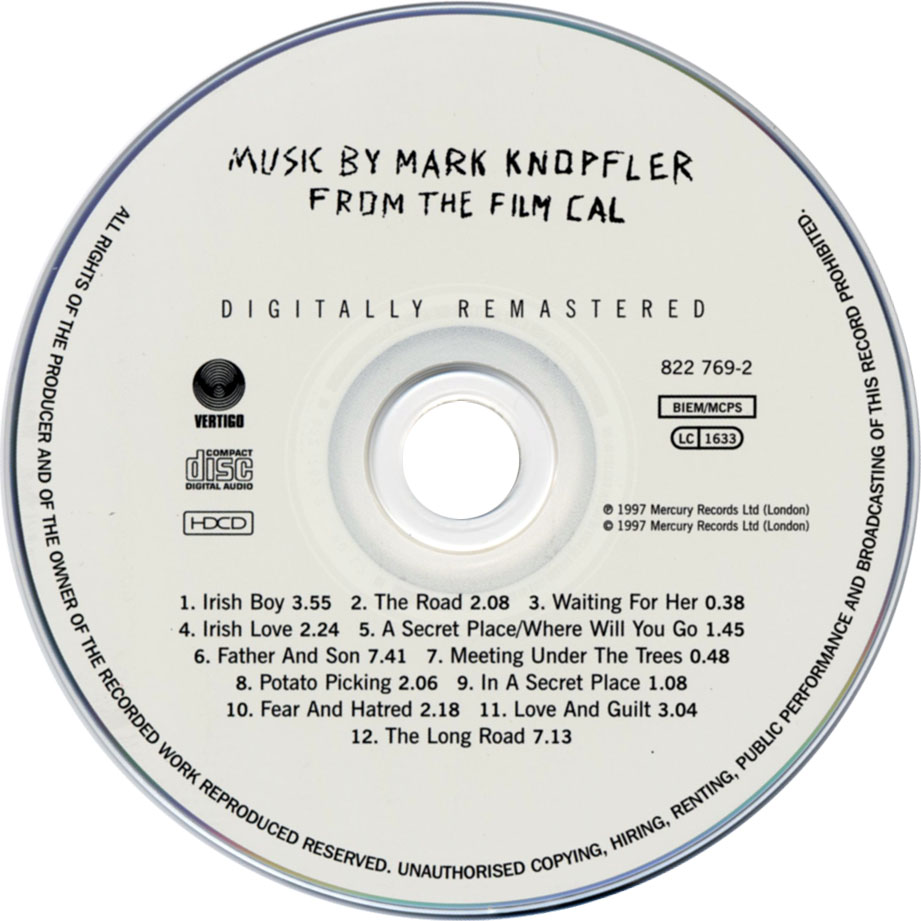Mark Knopfler-Cal-CD