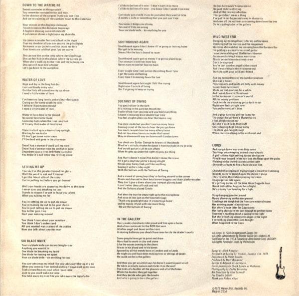 Dire Straits letras